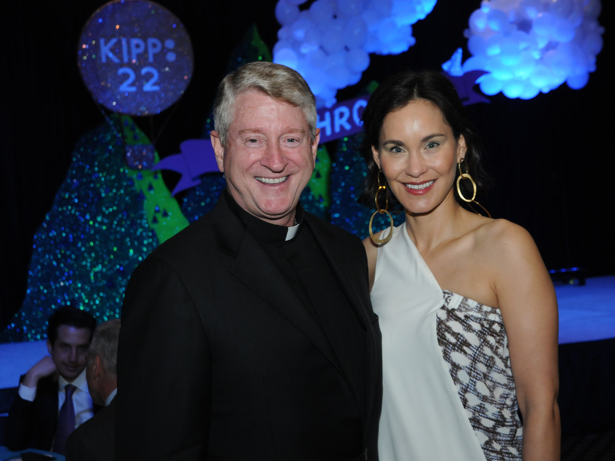 KIPP Houston dinner 4/16, The Rev. Daniel Lahart, Laura Arnold