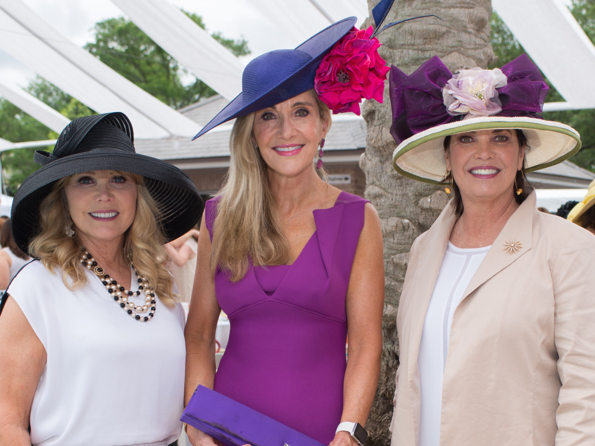Hats at River Oaks Tennis, 4/16, Brenda Love, Jana Arnoldy