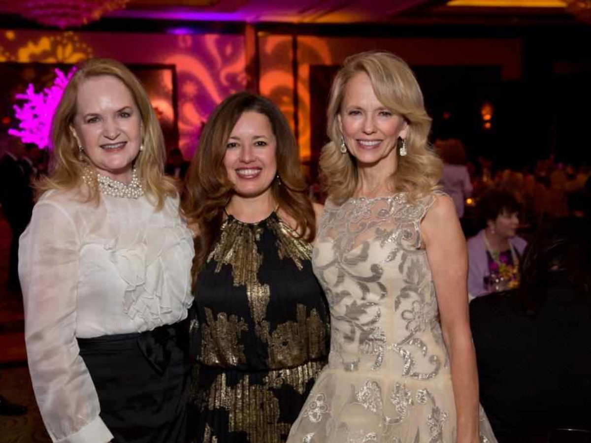 HCC Foundation gala 4/16, Sandy Barrett,  Susan Sarofim