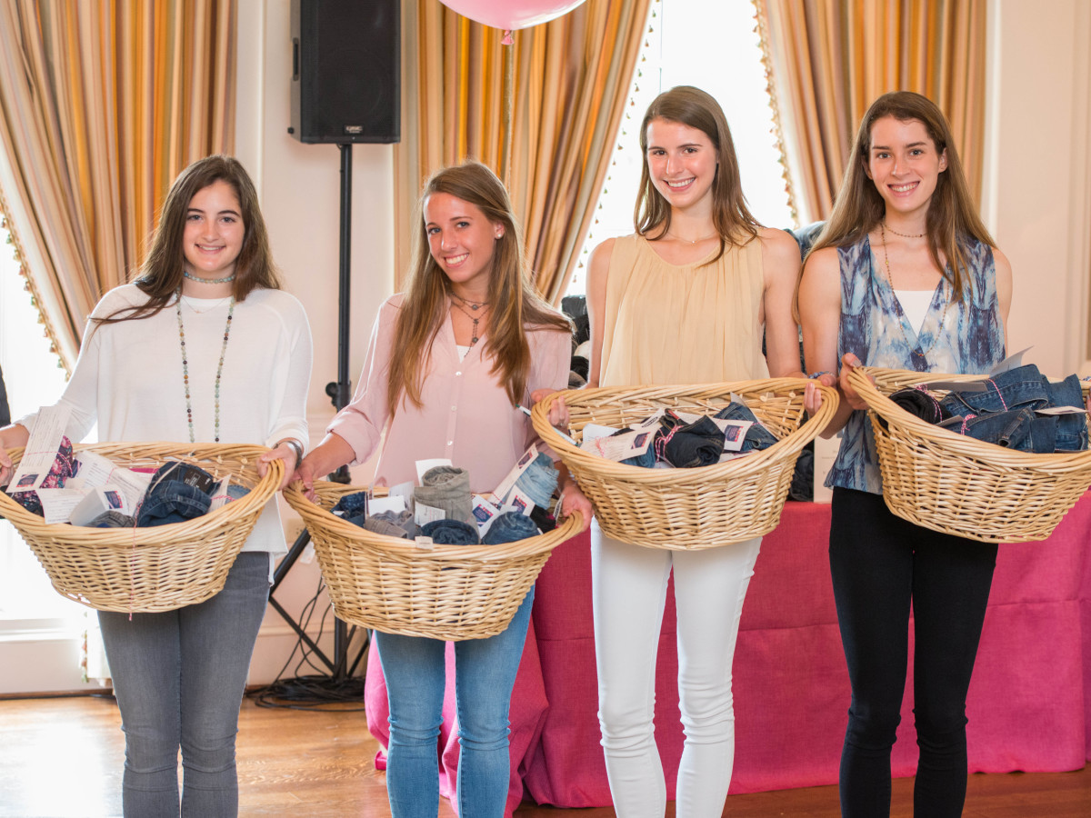 BEAR luncheon 4/16,  Abbie Wrather, Margaret Martin, Kendall Ayers, Grace Geib
