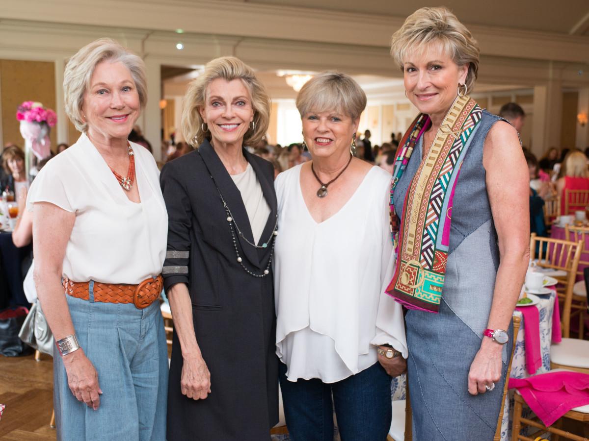BEAR luncheon 4/16,  Sheila Reese, Alice Burguieres, Patti Everett, Veronica Curran