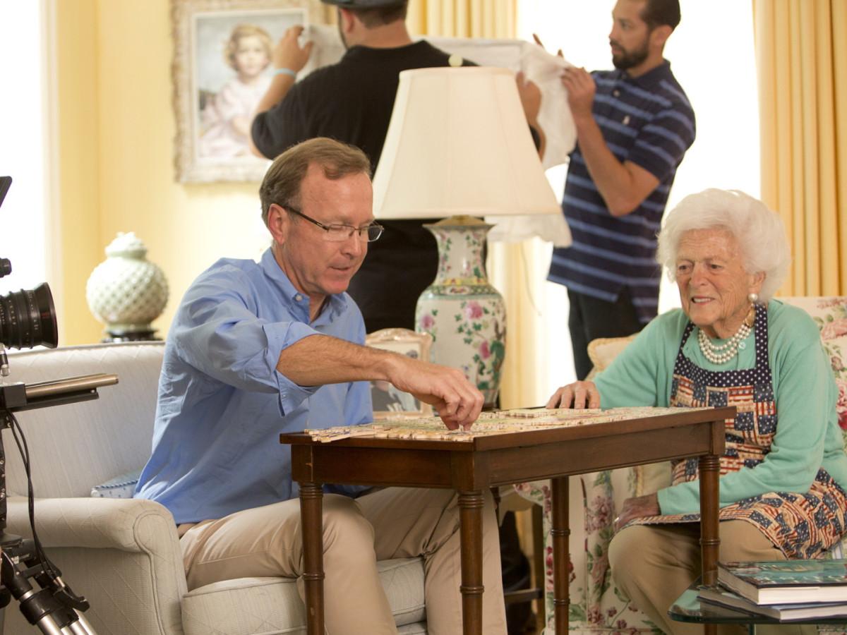 Neil Bush, Barbara Bush, scrabble, 4/2016