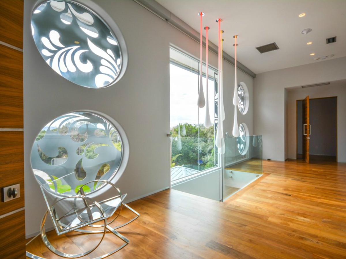 Austin house home Acqua Villa Winn Wittman Lake Travis 14515 Ridgetop Terrace 78732 hall ight installation