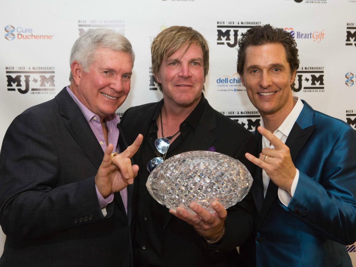 Mack Jack and McConaughey 2016 Gala Mack Brown Jack Ingram Matthew McConaughey