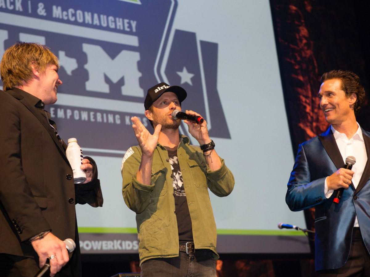 Mack Jack and McConaughey 2016 Gala Jack Ingram Dierks Bentley Matthew McConaughey