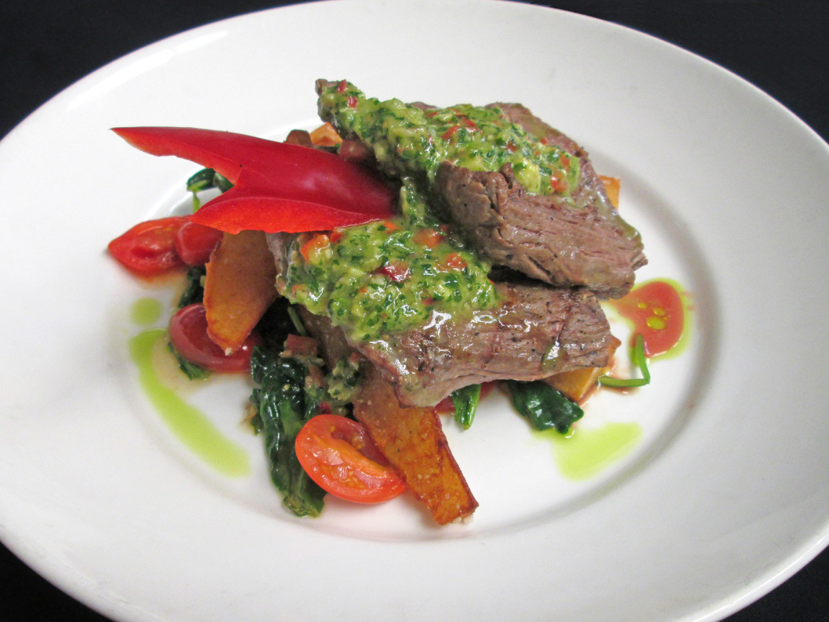 Woodlands American Grill chimichurri steak