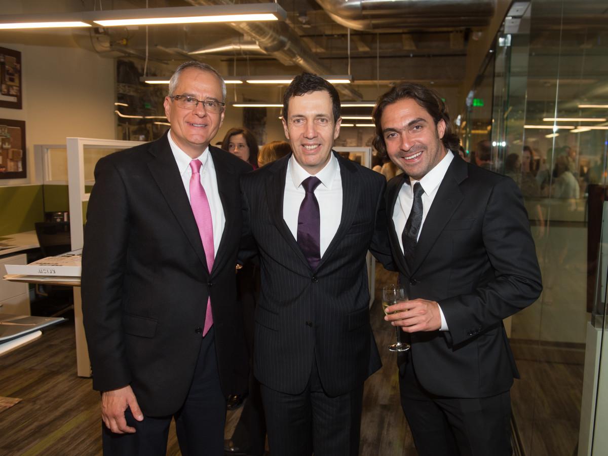 Carnan Properties Opening, April 2016, Alfonso Estevez, Jorge Lomelin, Luis Felipe Zamorano