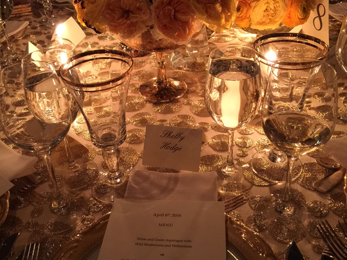 Van Cleef & Arpels party, April 2016, table setting