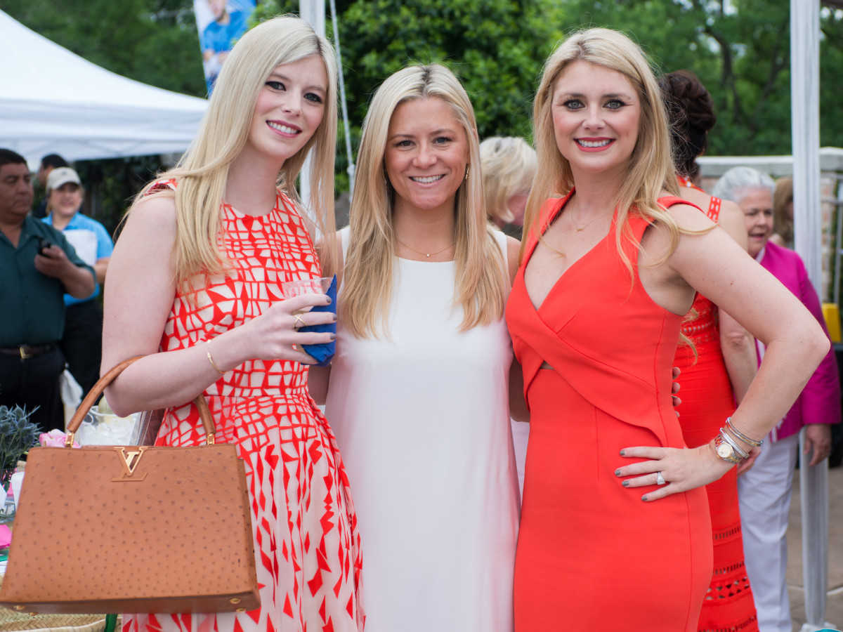 River Oaks Tennis Luncheon, April 2016, Kimberly Falgout, Monica ickers, Christine Falgout-Gutknecht
