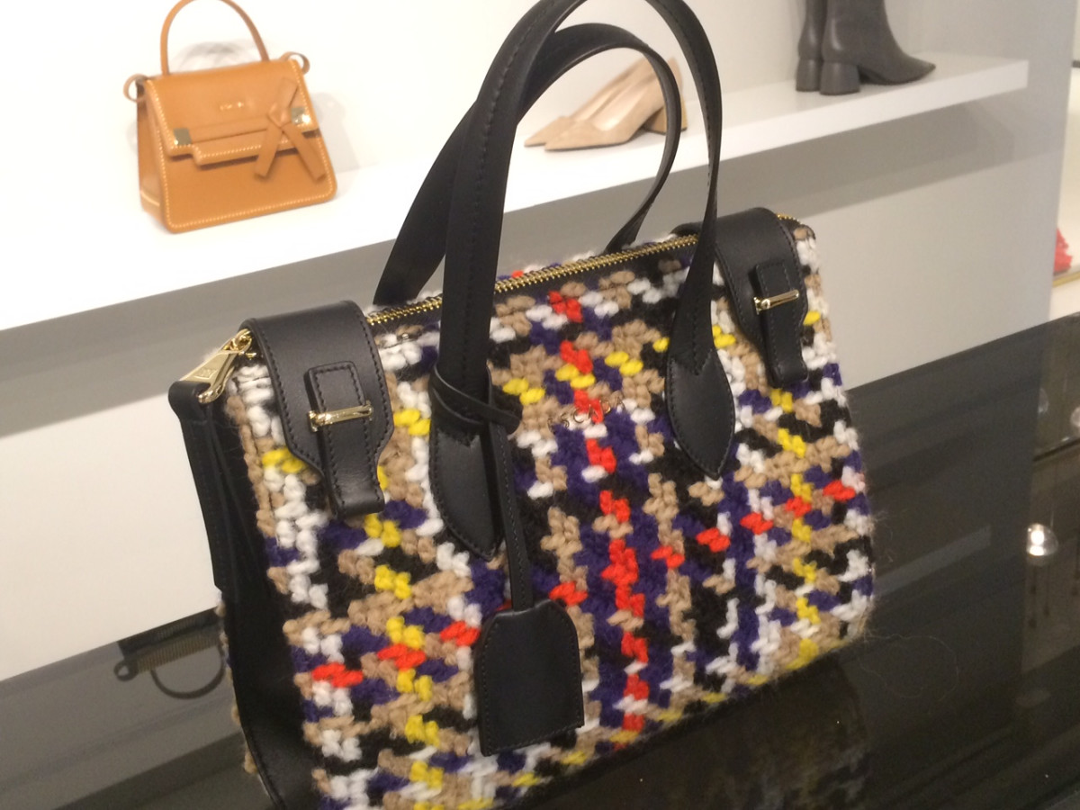 Escada basketweave handbag