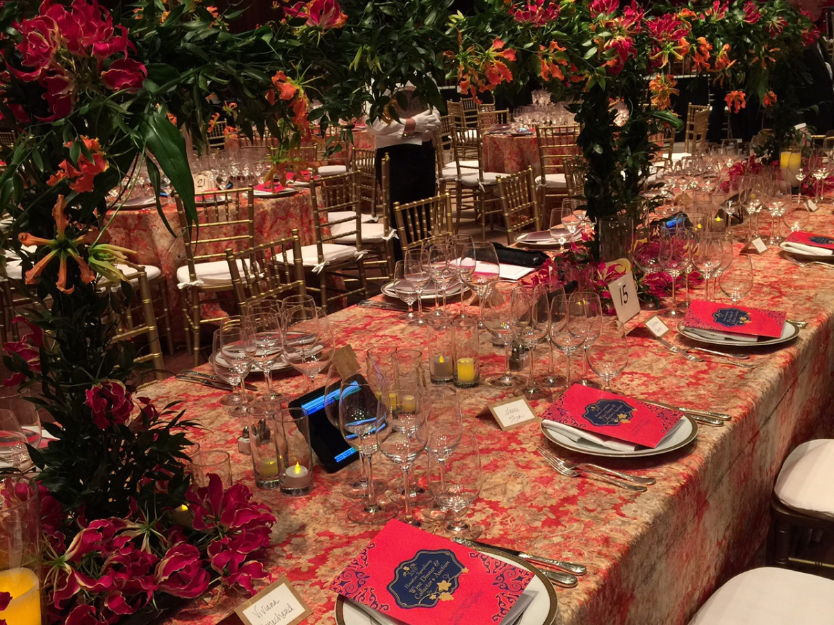 Symphony Wine Dinner, April 2016, decor