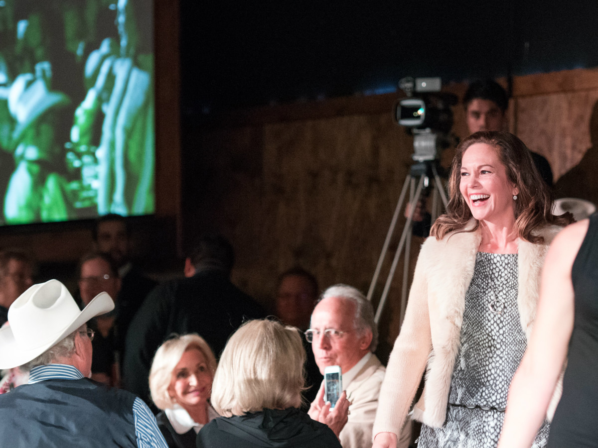 Diane Lane at Lonesome Dove Reunion