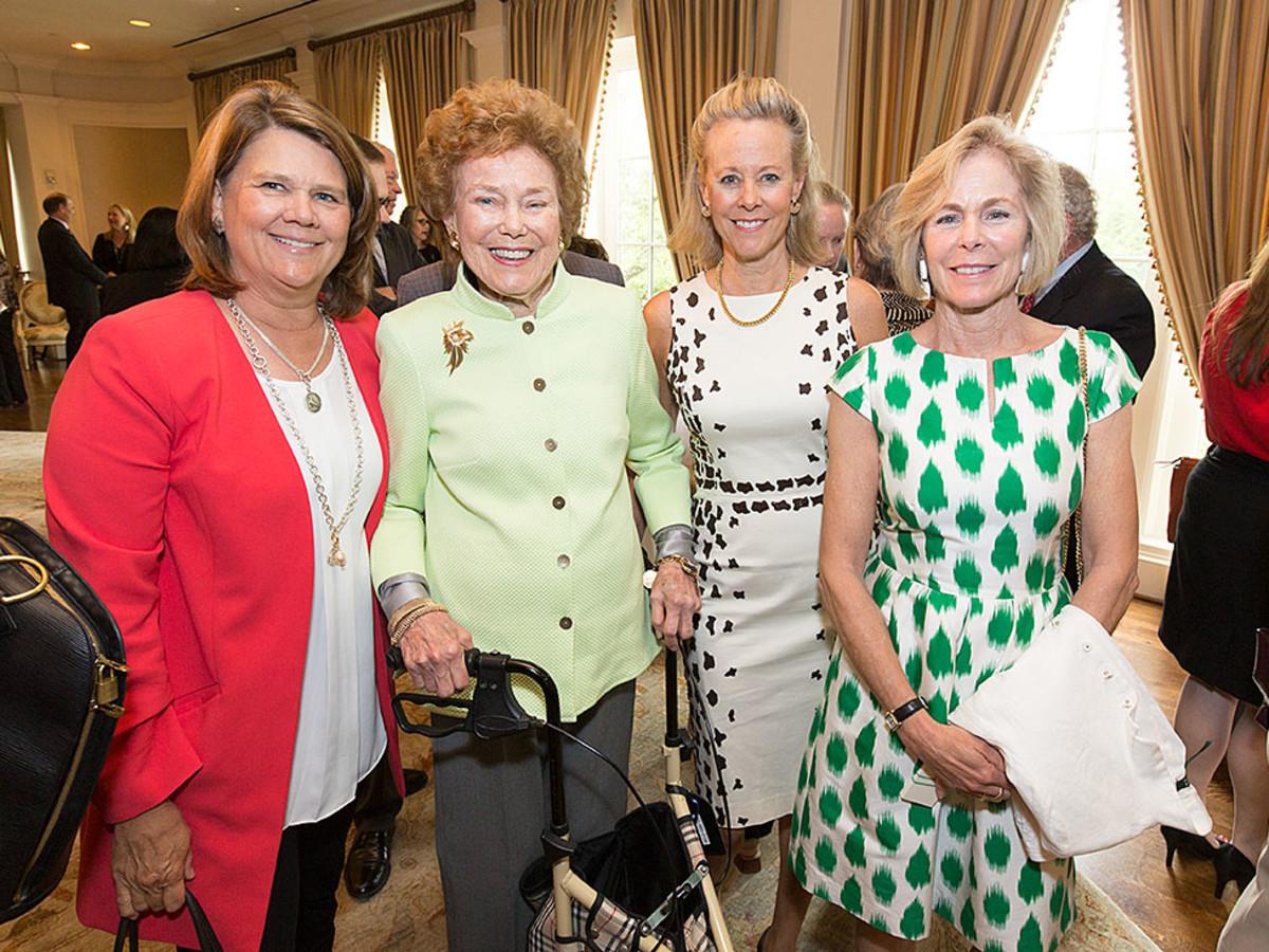 VEPS Luncheon, March 2016, Phoebe Muzzy, Helen Vietor, Jennifer Evans, Page Winstead