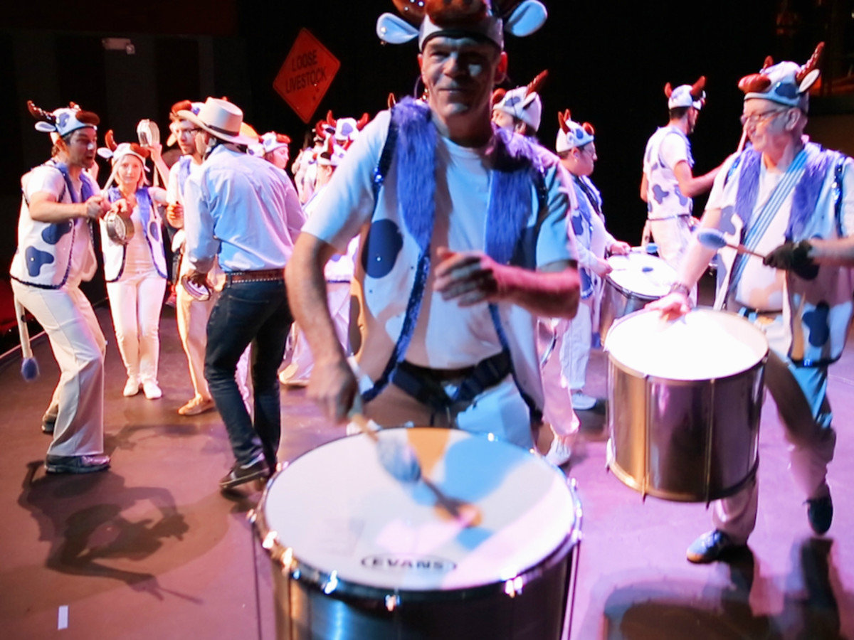 KLRU PBS Arts in Context Austin Samba School Texas! A Horse Opera Cattle Bateria 2016