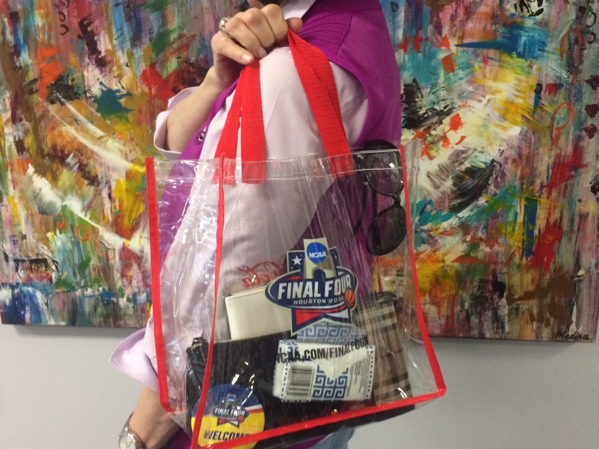 Clear Bag Policy approved bags NCAA Final Four