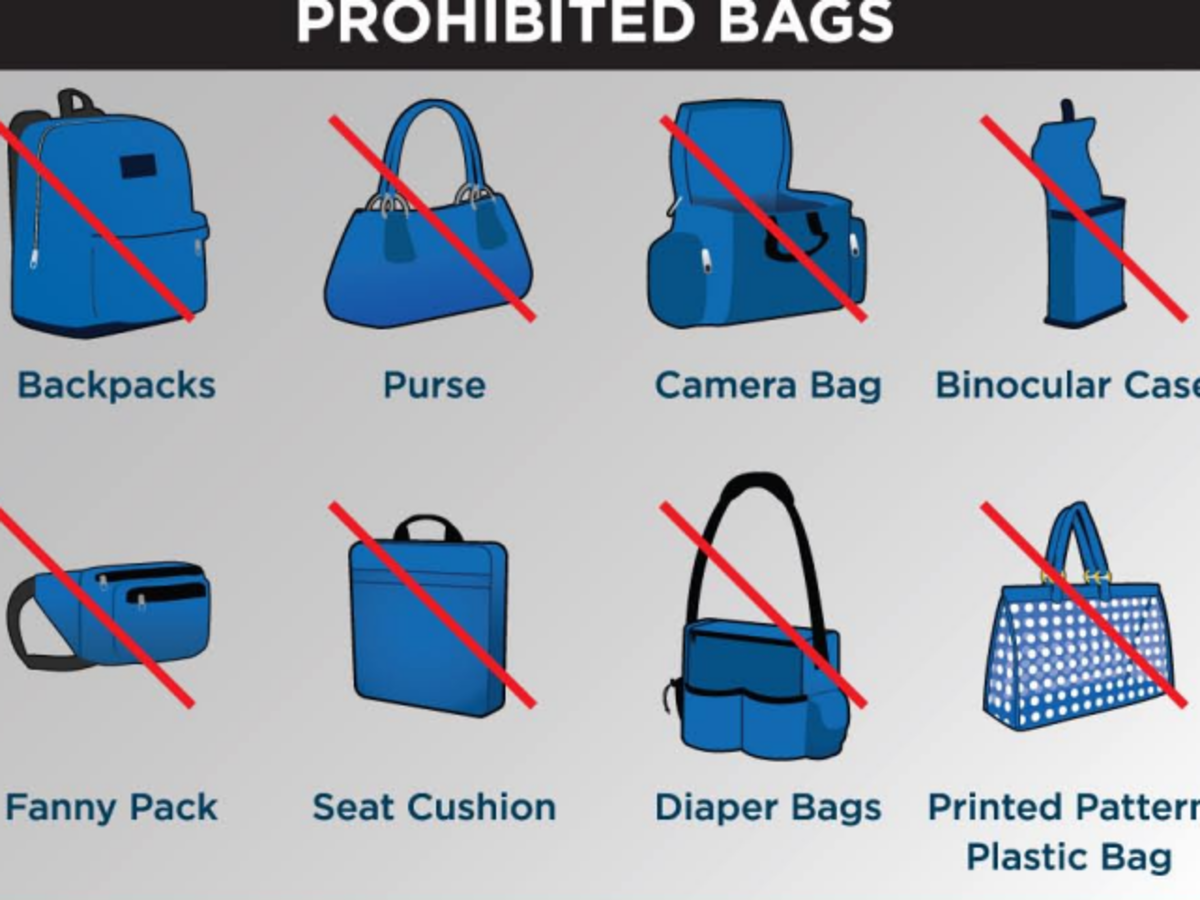 Clear Bag Policy prohibited bags
