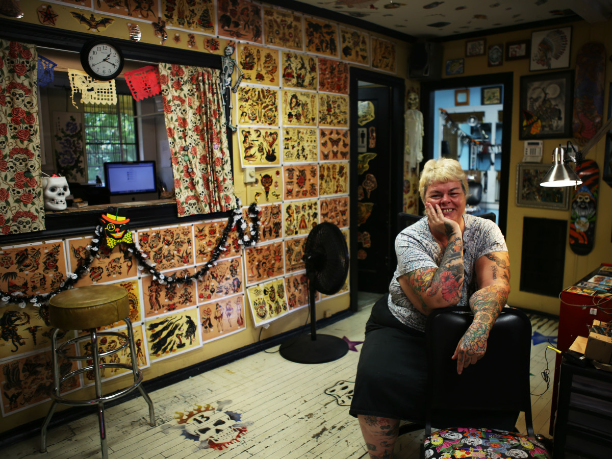"Deb ""Mom"" Obregon, owner of Mom's Tattoos"