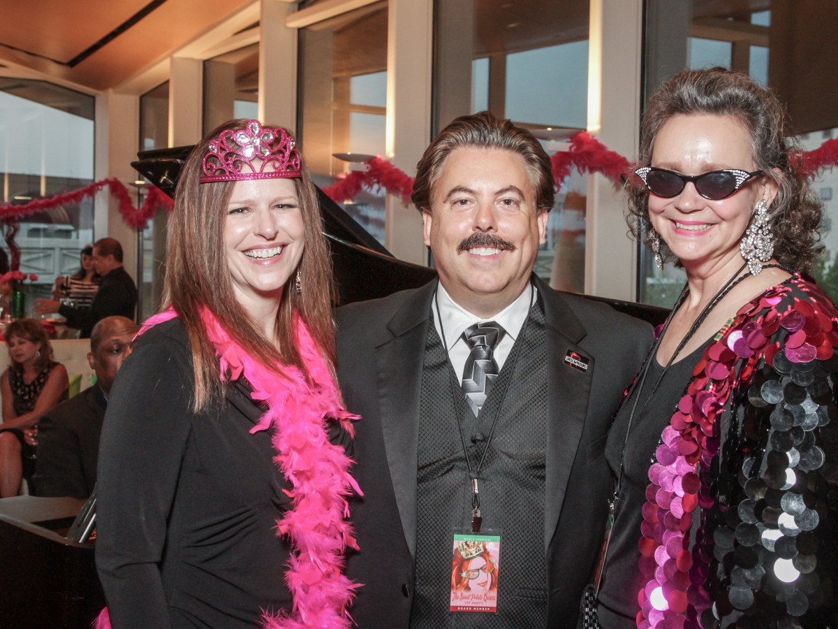 Tricia Ratliff, Alan Ratliff, Jill Conner Browne at Sweet Potato Queens party