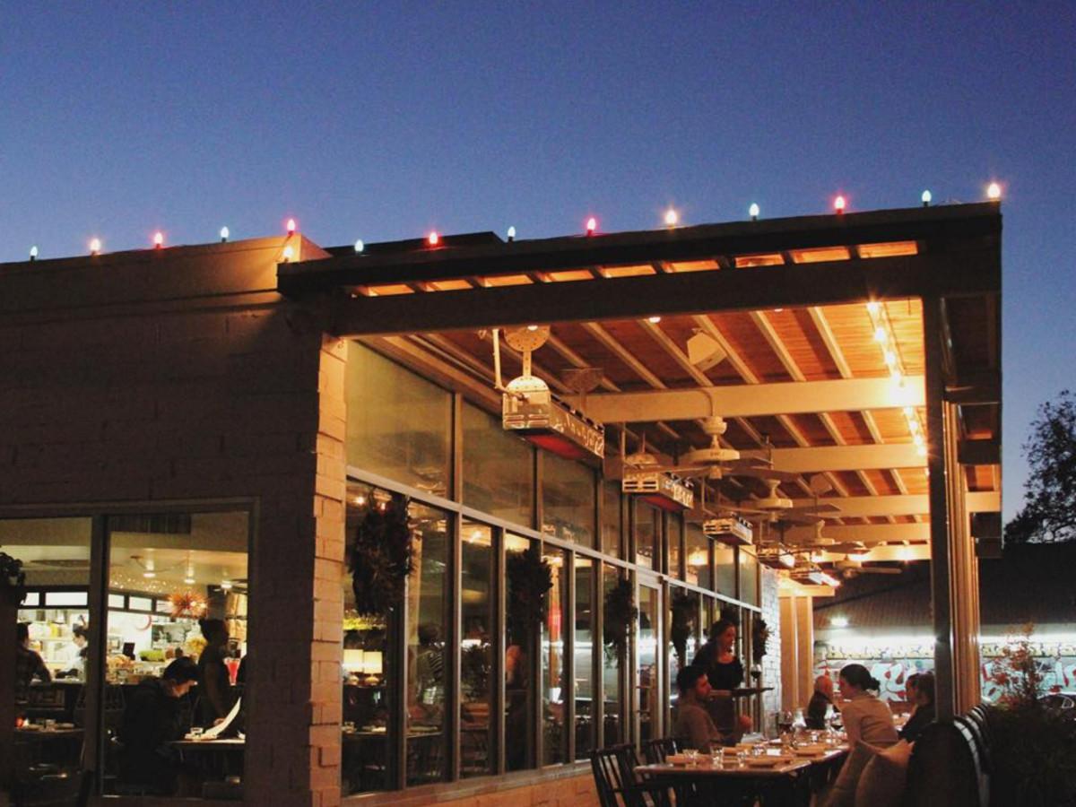 Launderette Austin patio dining