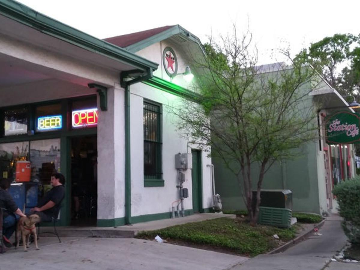 Filling Station (at left), next to Station Cafe.