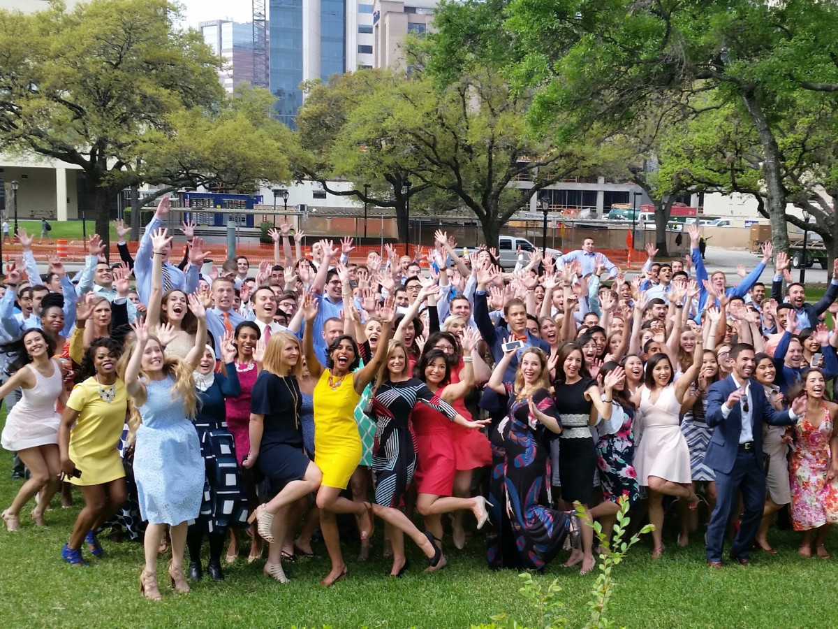 UT Medical School Match Day students