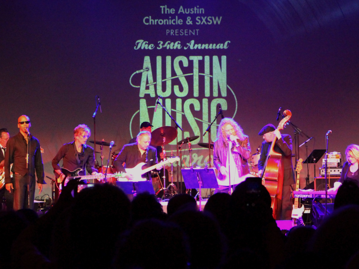 Austin Music Awards March 2016 Charlie Sexton Jimmie Vaughan Robert Plant