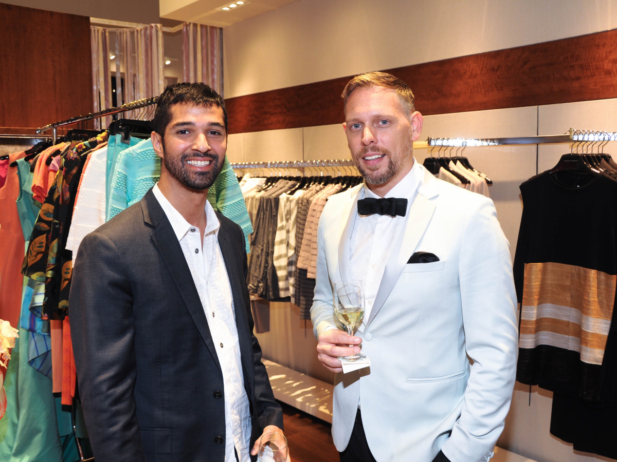 Angel Rios, Patrick McDonough at Passion for Fashion party at Elizabeth Anthony