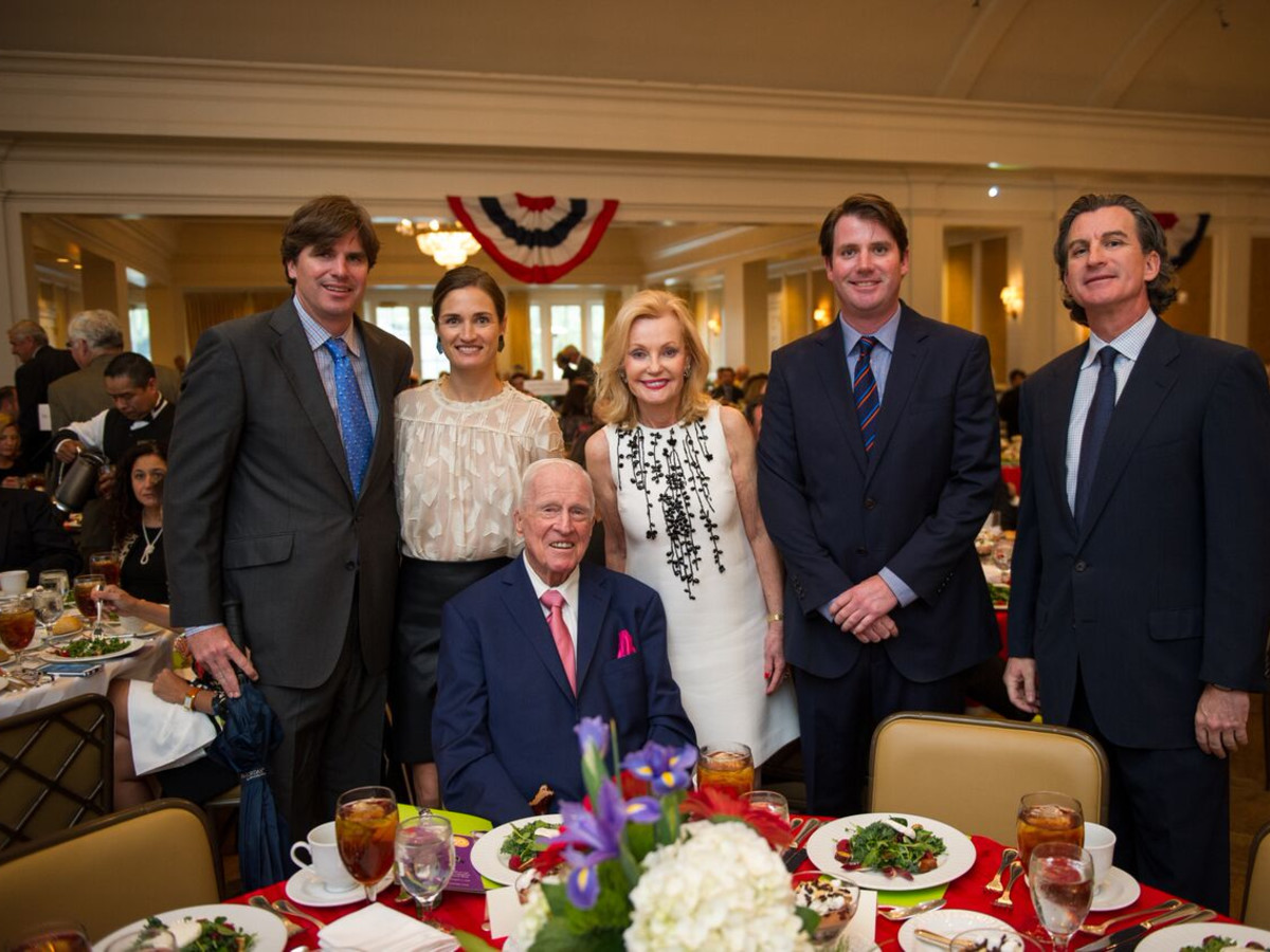 Christus Foundation Luncheon, March 2016, Patrick, Erin, Pat Michael, Brian and Dan Breen (seated)