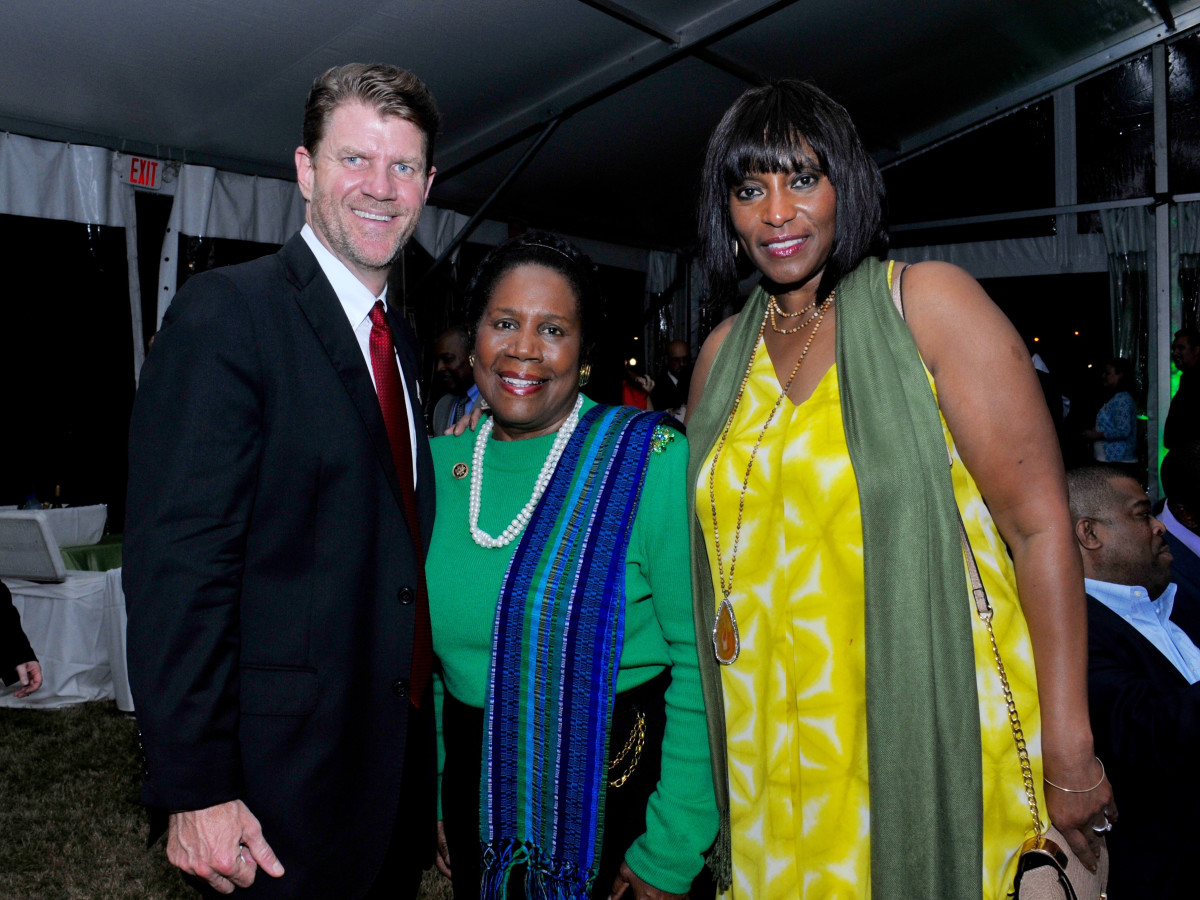 Hermann Park 100th Anny, March 2016, Bill Baldwin, Sheila Jackson Lee, Gail Brown