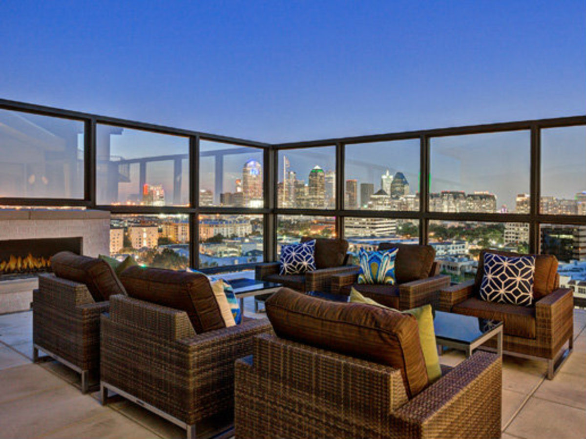 Terrace rooftop lounge at The Taylor in Dallas