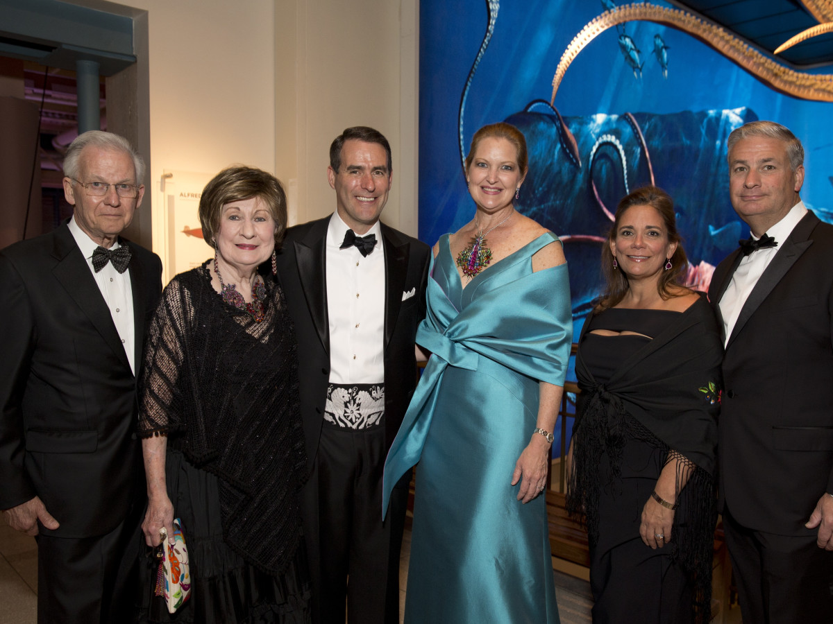 Museum of Natural Science gala, March 2016, Harry Mach, Cora Sue Mach, Steve Mach, Joella Mach, Carmen Mach, Butch Mach