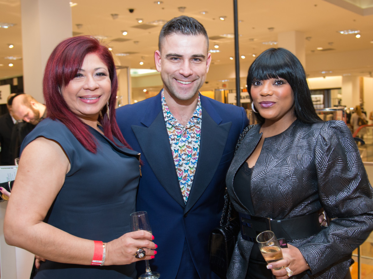 Blanca Sachtouras, Rubin Singer, Earlene Buggs at Dress for Dinner