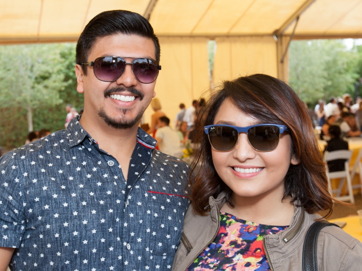 Houston Zoo Flock brunch, March 2016, Alberto Garcia, Jessica Valdez