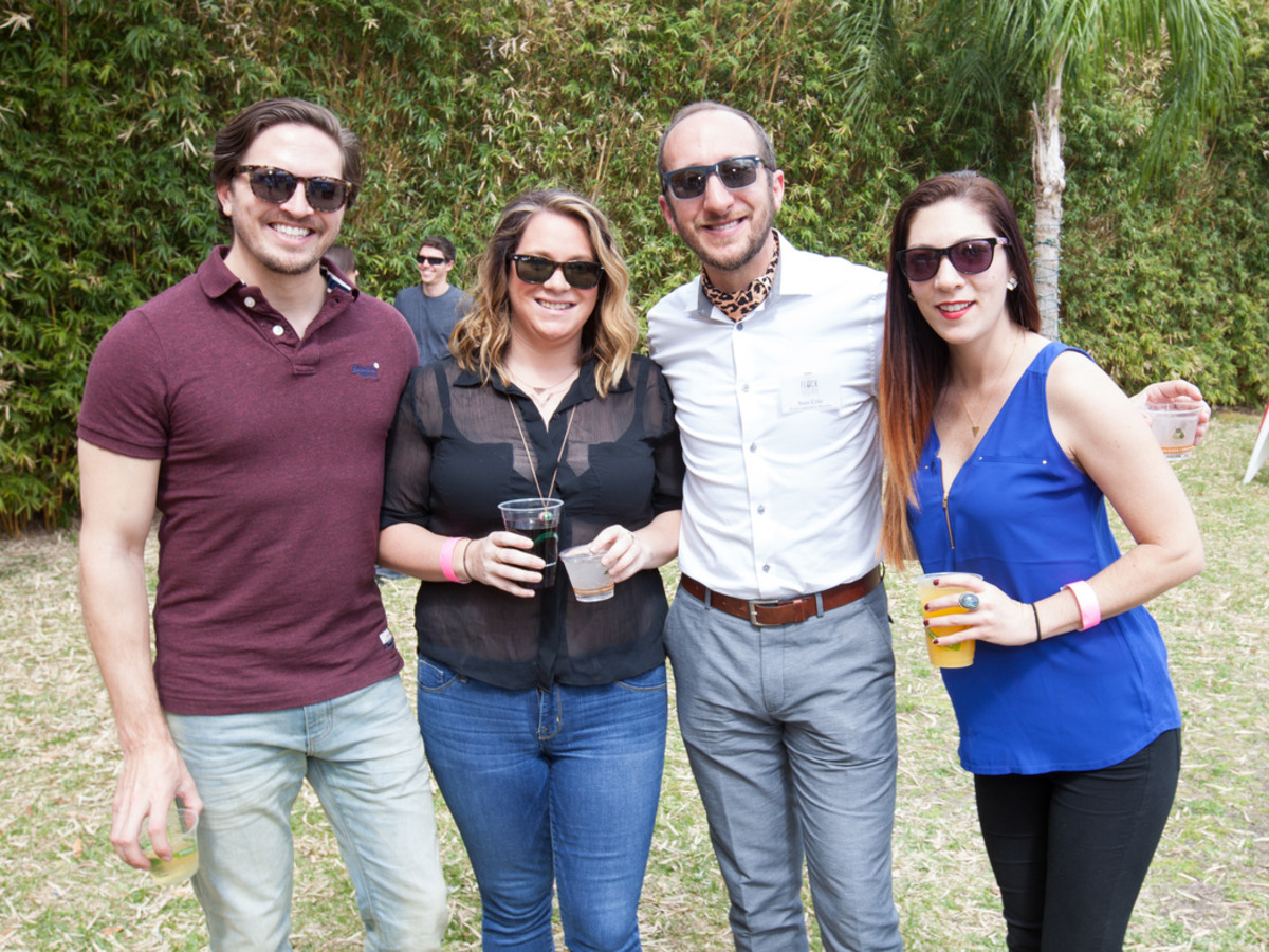 Houston Zoo Flock brunch, March 2016, Chris Roberts_ Haley Rachunek_ Sam Cole_ Erin Elston