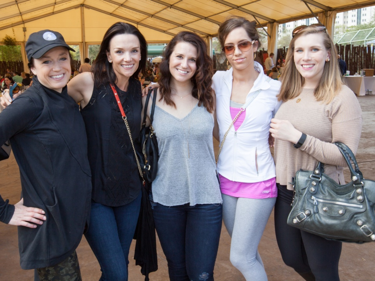 Houston Zoo Flock brunch, March 2016,Jen Werth_ Cotton McNutt_ Lorrie Brabender_ Andi Kveton_ Cheryl Connery