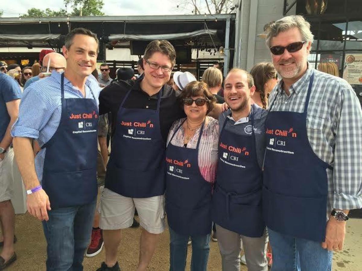 Casa de Esperanza chili cook-off, March 2016, Peyton Welty, Jay Van Kessel, Sandi Marine, Daniel Marine, Nick Luyster