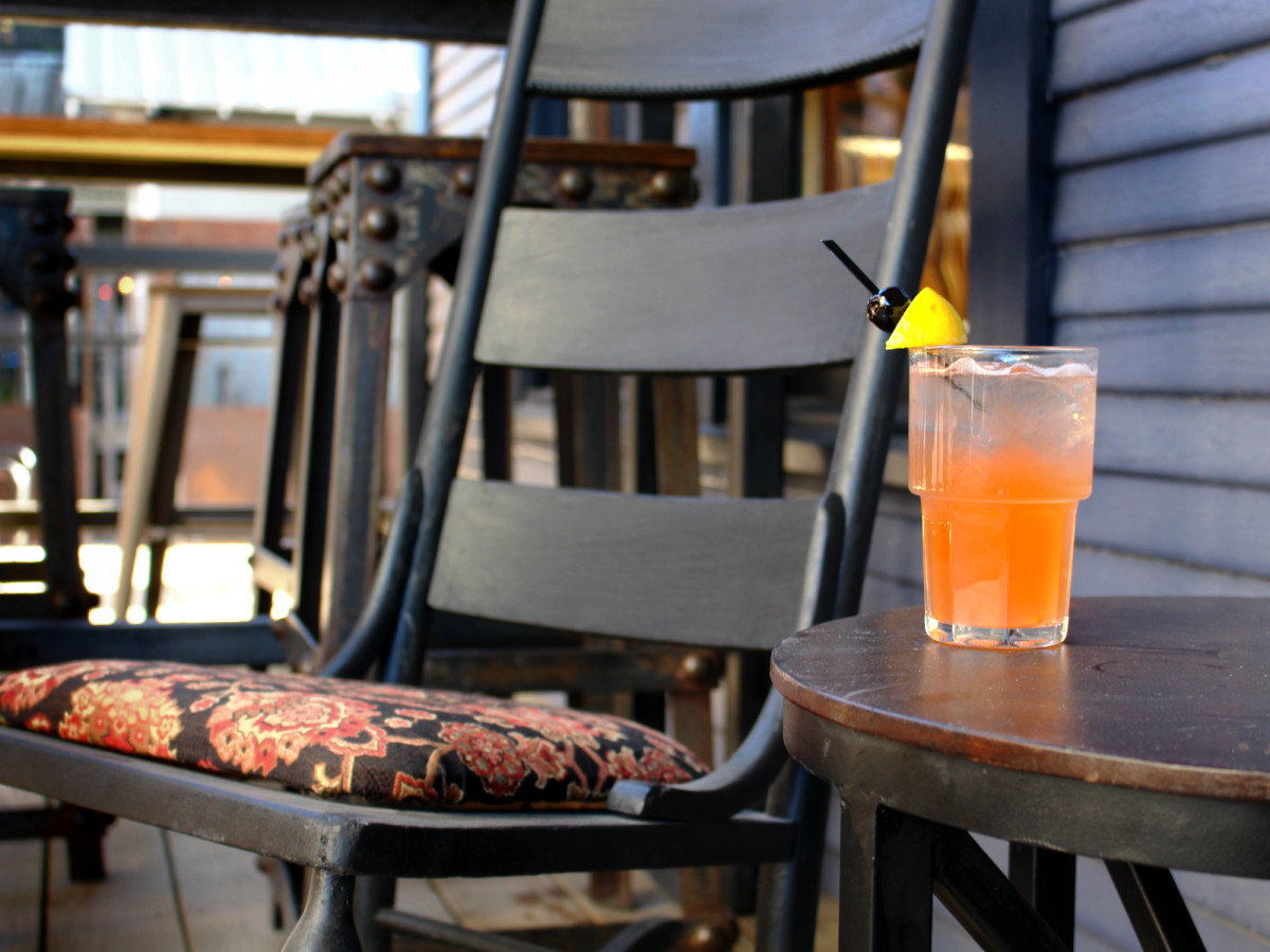 Lustre Pearl Rainey March 2016 cocktail drink rocking chair