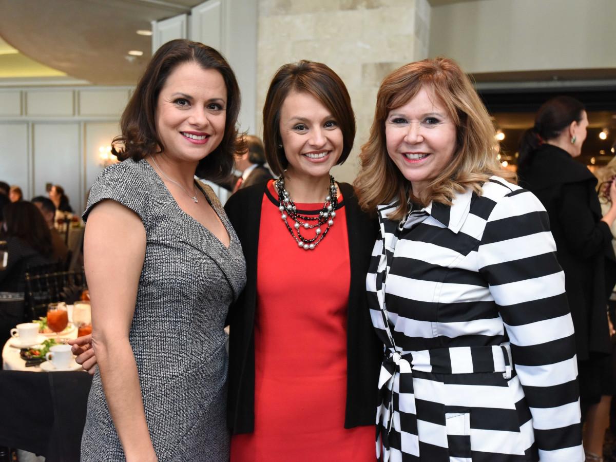 El Centro luncheon, Feb. 2016, Marcie Mir, Emily Mir, Cyndy Garza Roberts