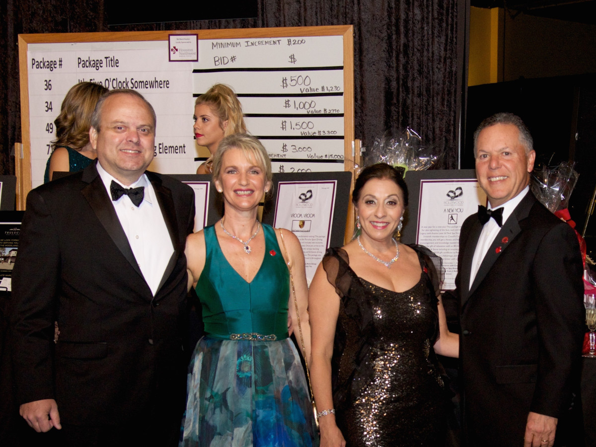 Montgomery County Heart Ball, Feb. 2016, Richard Wilken, Tracy Wilken, Shirley Alexander, Ralph Alexander