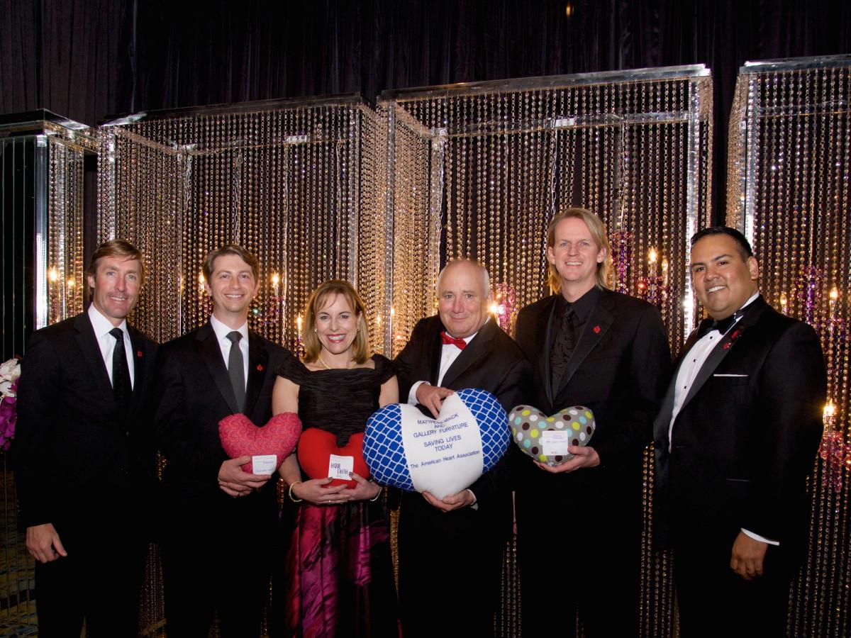 Montgomery County Heart Ball, Feb. 2016, Josh Urban, Justin Kendrick, Debbi Sukin, Charles Hankens, Dr. Mark Mettauer, David Argueta