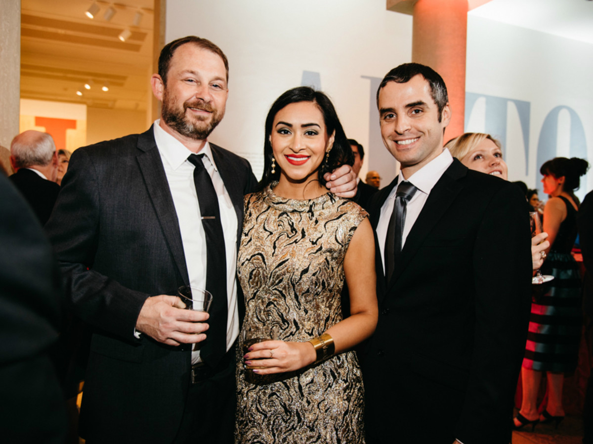 Blanton Museum Art on the Edge gala February 2016 Alex Larsen Zelina Celeste Serna Nijad Baltaji