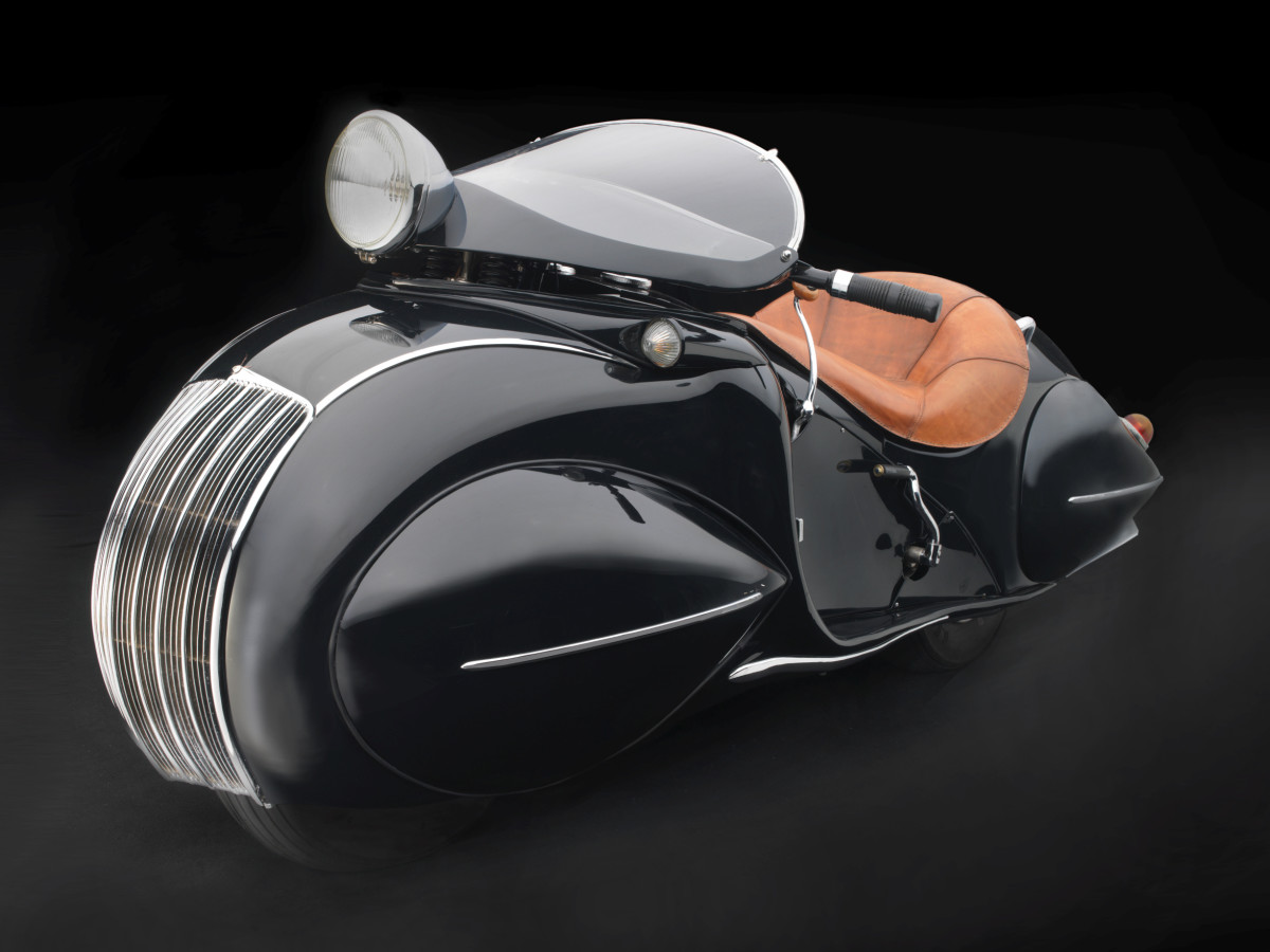 Sculpted in Steel, KJ Streamline Motorcycle, 1930