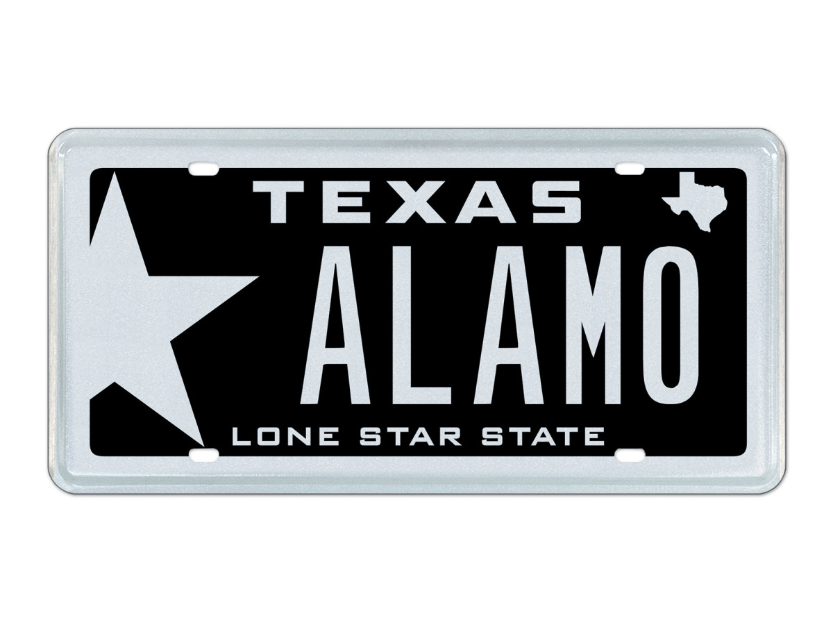 Alamo Texas license plate February 2016 auction