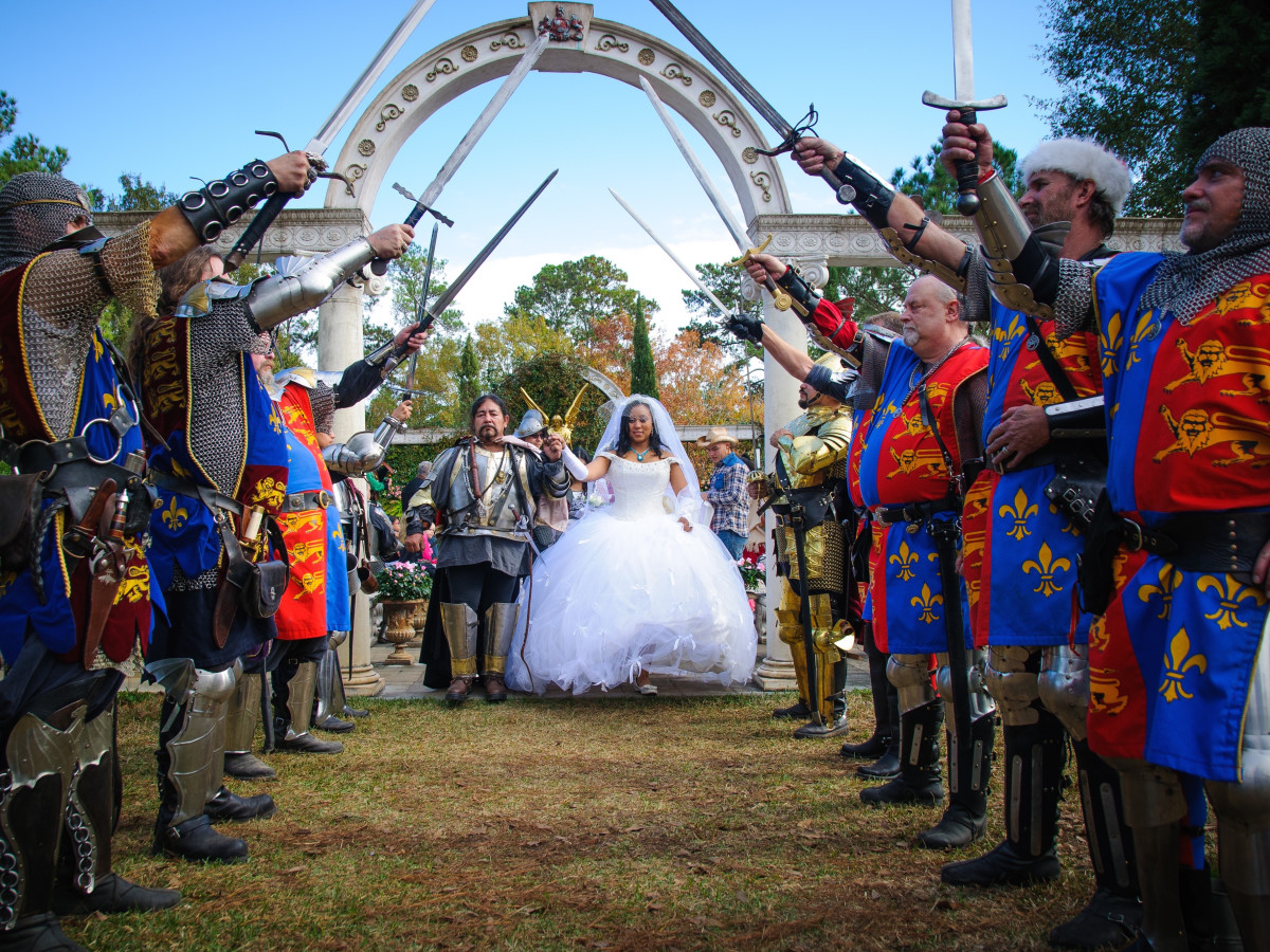 Renaissance Festival Weddings, Feb. 2016 Edwin Delarosa, Chasity Johnson