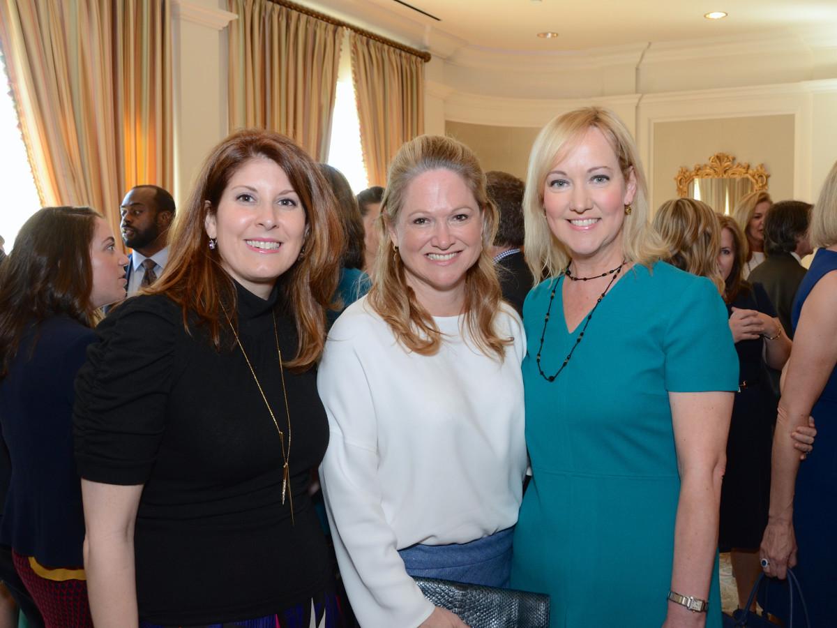 The Center luncheon, Feb. 2016, Christina Sacco, Kiki Wilson, Angie Holloway