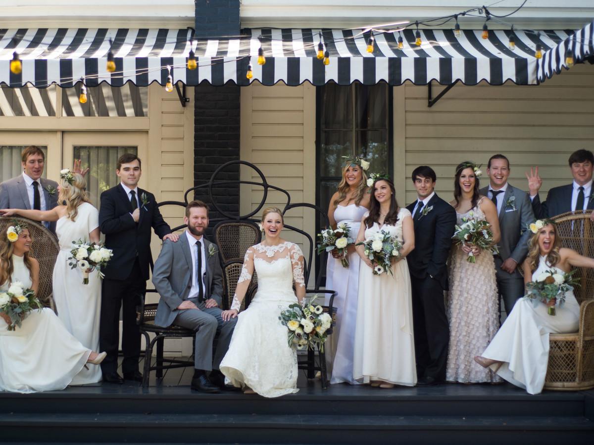 Katie Van Dyk Ben Nelson real wedding-party