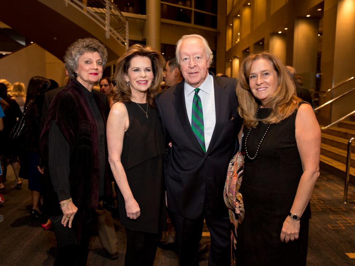 Tennis gala, Feb. 2016, Candy Kyle, Susie Cunningham, Mike McSpadden, Lisa Caledonia