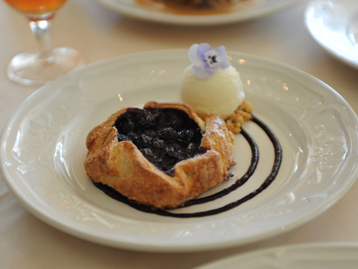 Manor House blueberry tart