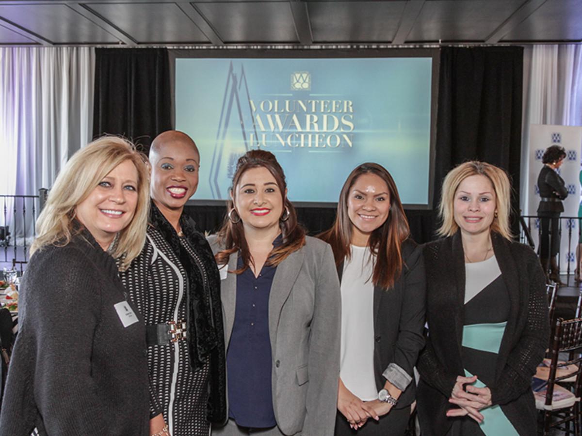 Greater Houston Women's Chamber of Commerce luncheon, Feb. 2016, Kimberly Renko, Anness Bertrand, Priscilla Silva, Matilde Juarez, Tabitha Rodriguez