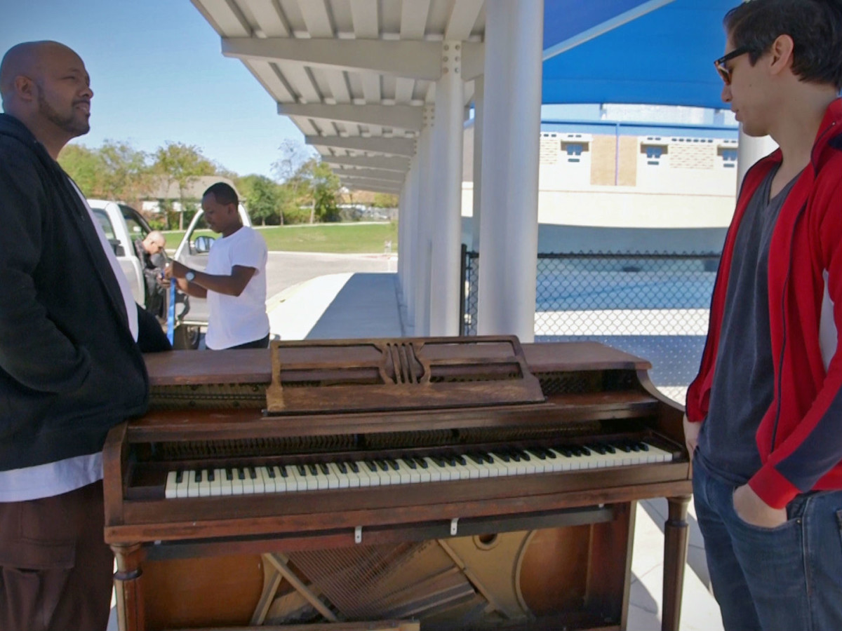 Nathan Felix donating pianos arts in context
